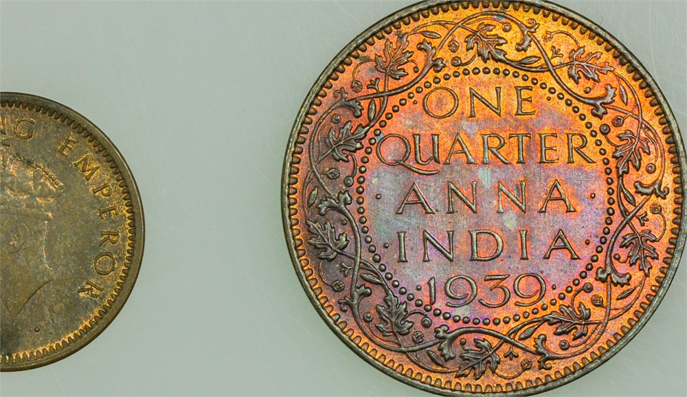 Penny Pincher Auctions - INDIA-BRITISH Two Coins. KM#530 ...